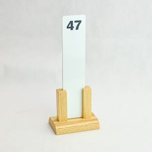 Light Wood Two Post Riser Exchangeable Number Stands (IT721)