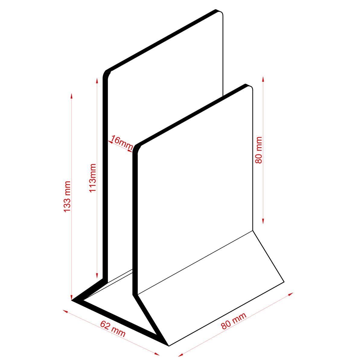Metal table top holder