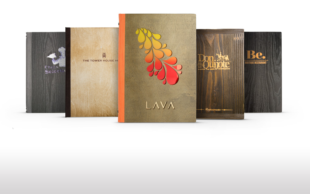 GoWood: Customise our innovative range of stunning real wood menus