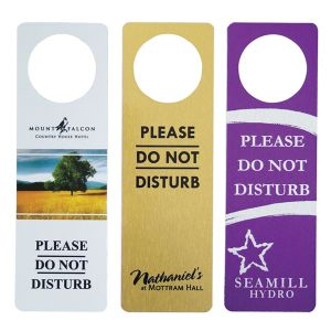 Metal do not disturb signs