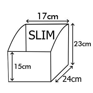 Coffret de menus en faux cuir taille slim 1/3 A4