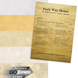 Paper for menus
