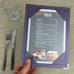 A5 Purple Ashmore Menu Boards (IT102)