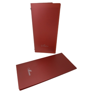 Slim Metallic Red Menus (IT625)