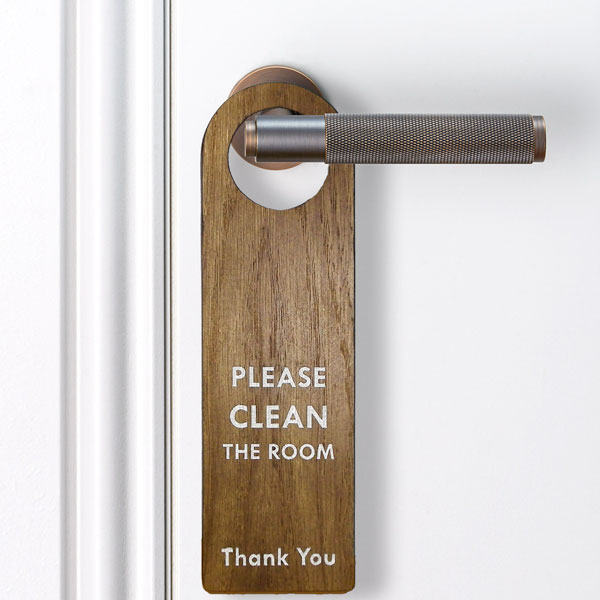 Wooden Door Handle Signs
