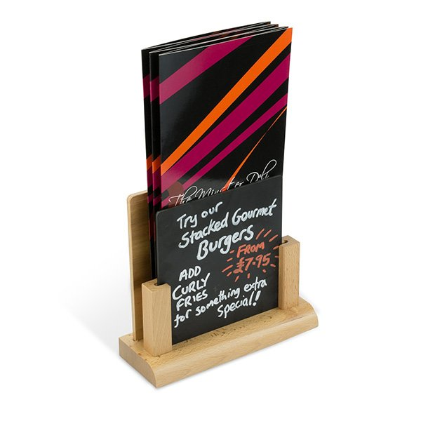 Square Wood Menu Holder