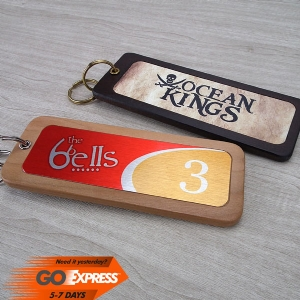Wood & Metal Keyring