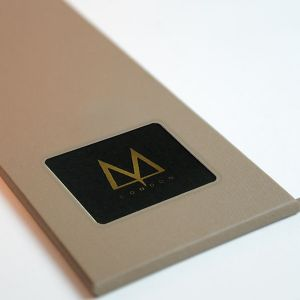 Custom metal plate printed with your own design