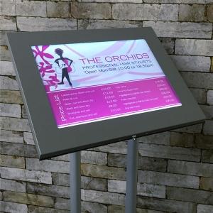 wall mounted display cases, menu cases, wall displays, display cases, mounted displays, menu displays, menu shop.