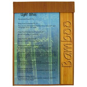 tariff menu boards, tariff menus, wood style, menu displays.