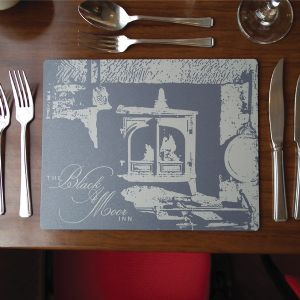 metal tablemats, placemats, coasters, custom mats.