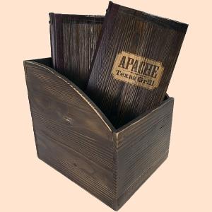 Boite de protège-menu assortie aux protèges-menus en bois