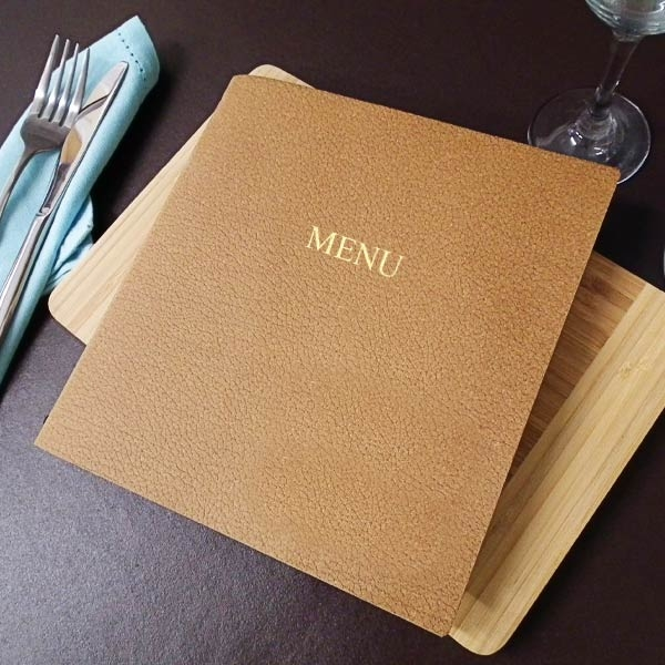 menu shop, menushop, eco menu, eco friendly, ecological menu, leather menu, leather menus, bonded leather.