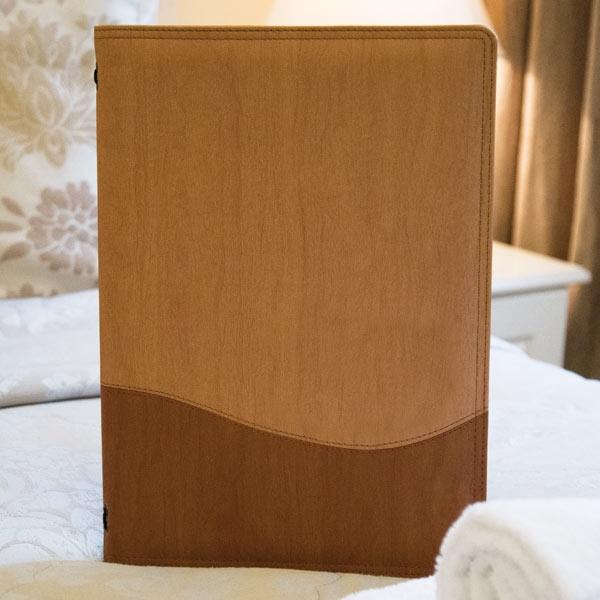 guest folder, room folders, wood style folders, wood effect folders.
