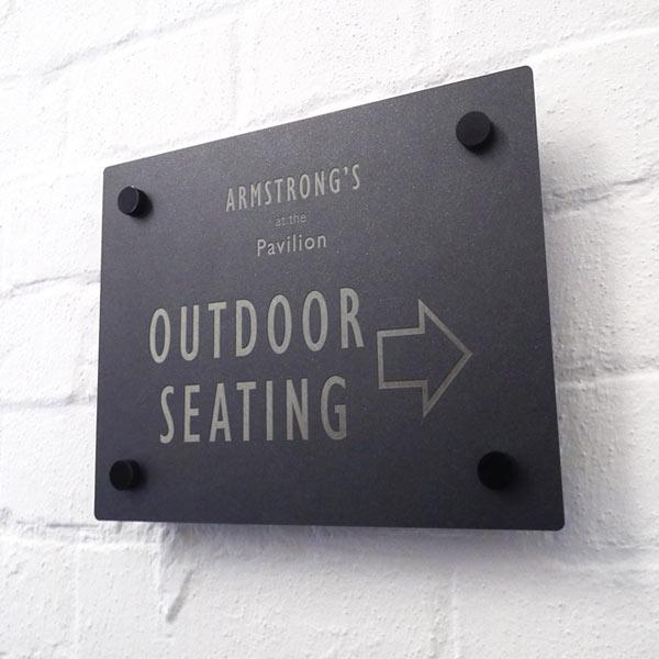 metal signs, engraved signs, restaurant signage, menushop