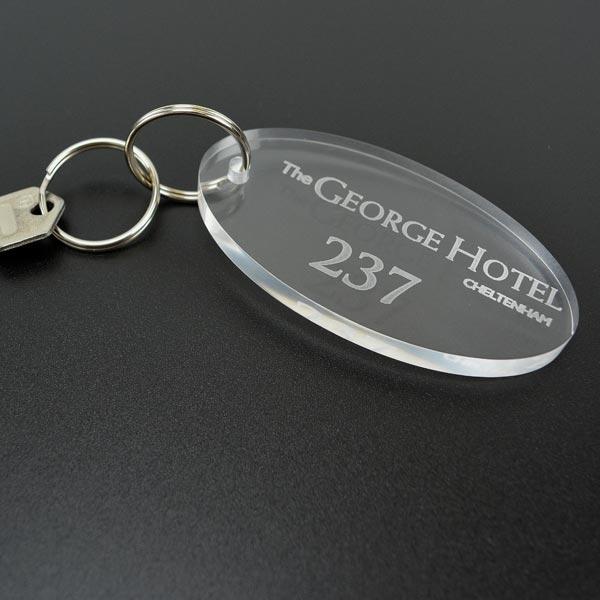 Acrylic Key Fobs Plastic Key Rings