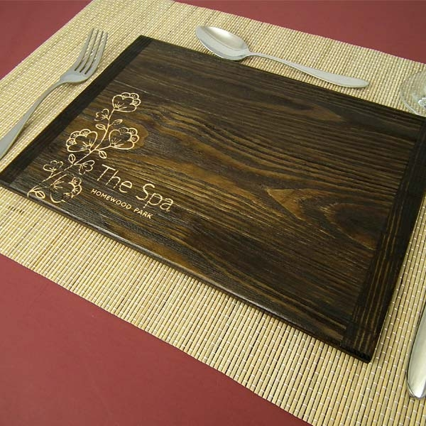 Wooden rustic table placemats tableware for Table mats design your own