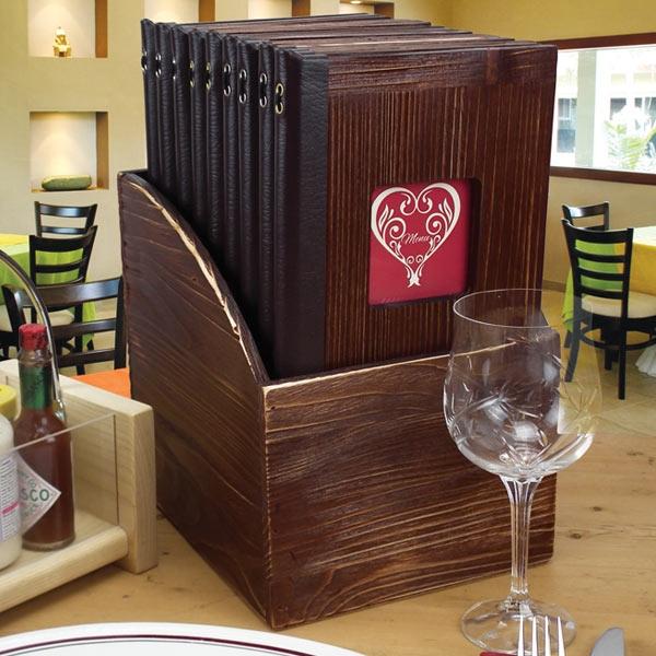 Vintage Wooden Menus Rustic Style Menu Covers - Table menu holders for restaurants