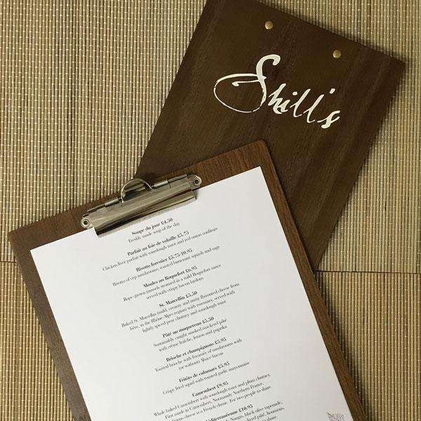 Wood menu board food drink display - Maderas menur ...