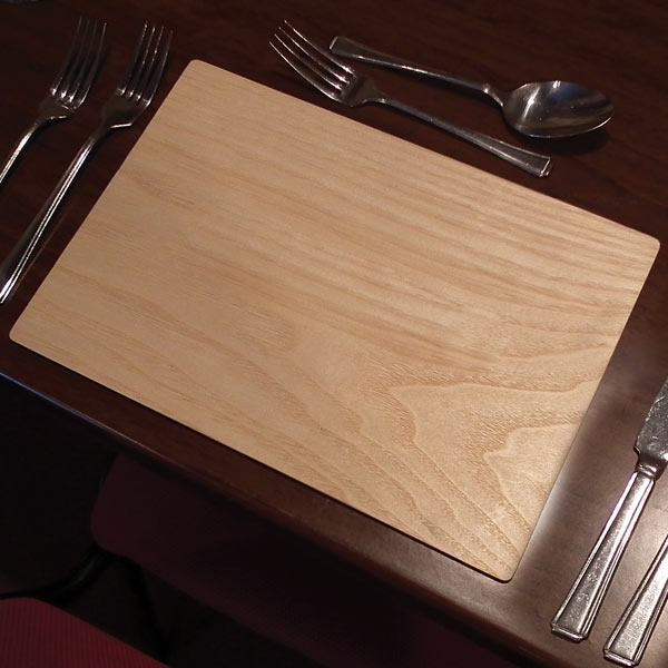 Wooden table placemats wood coasters tableware for Table placemats