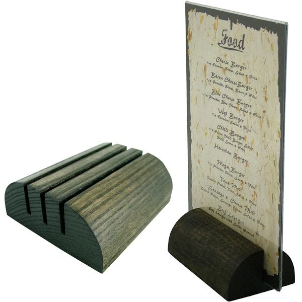 Table Menu Holders Tabletop Wood Holder