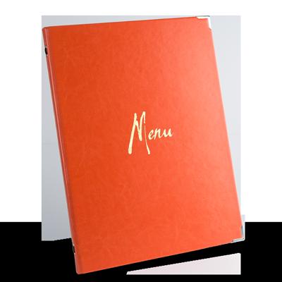 menu restaurant menu design, faux leather menu covers, unique menu holders, custom menu maker, custom folders, leather menus, custom menus.