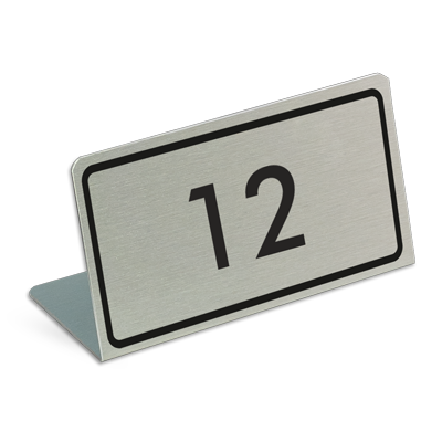 l shape table numbers reserved signs