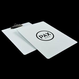 Merlin menu tariff board printed with a personalised design