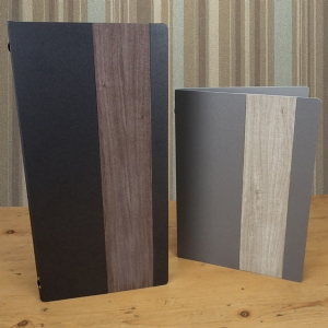Menu covers, metal menus, modern menus, menu shop.